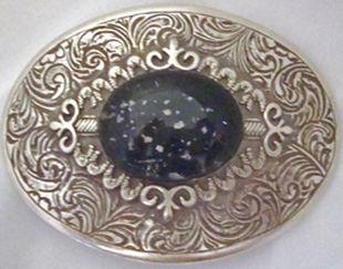 Cremation art belt buckle
