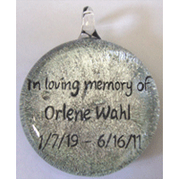 Dichroic glass cremation art