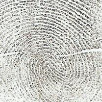 Fingerprint Blown Glass Cremation Art
