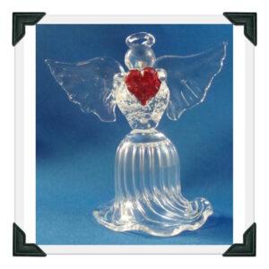 Blown Glass Angel Figurine
