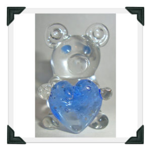 Blown Glass Bear Figurine