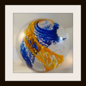Heaven Bound Blown Glass Globe