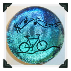 Carved Bicycle on gradient dichro
