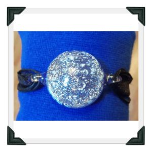 Blown Glass Cosmic Reflection Bracelet