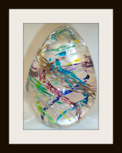 Blown Glass Egg Multiple with 8 Ashes